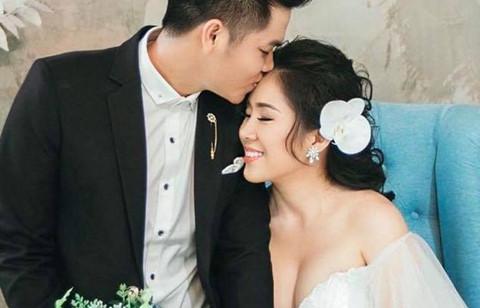 Lê Phương và chồng kém tuổi công bố ảnh cưới