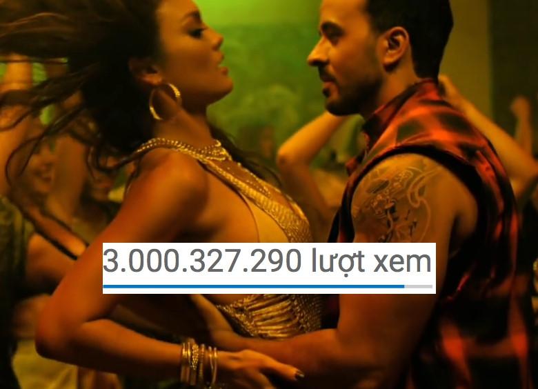"""""""Despacito"""" đạt 3 tỷ view, MV khẳng định quyền lực tối thượng"""