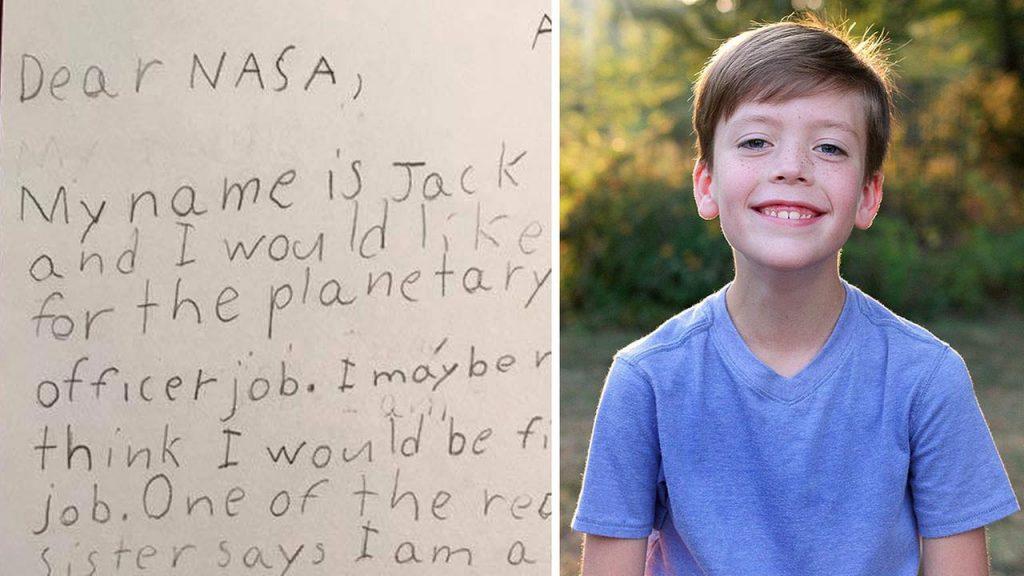 Ngộ nghĩnh cậu bé 9 tuổi viết thư xin việc ở NASA