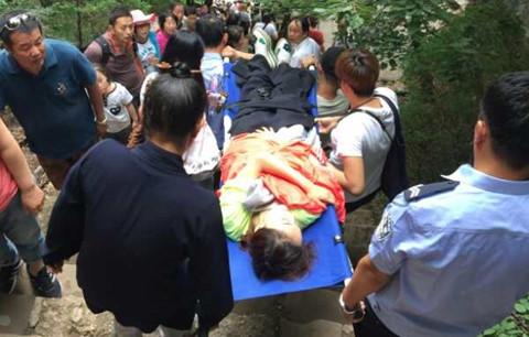 Sao nữ Trung Quốc gặp nạn khi leo núi Không Động