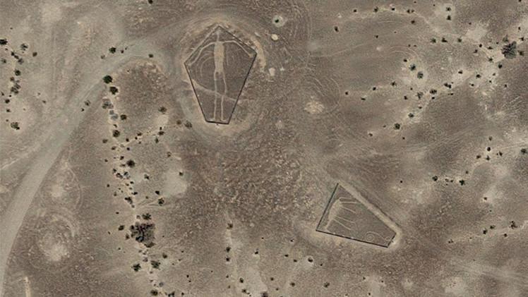 Hình vẽ khổng lồ bí ẩn ở sa mạc Mỹ