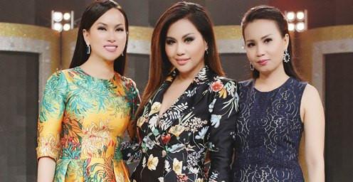 Chị em Cẩm Ly, Hà Phương, Minh Tuyết lần đầu hội ngộ trong game show