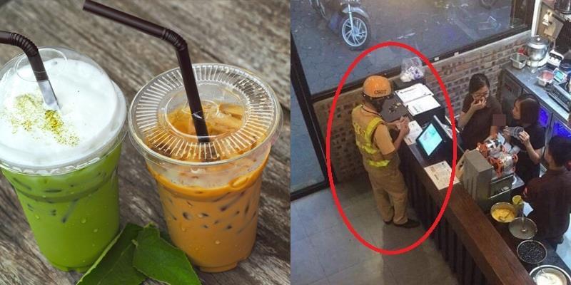 Chàng CSGT mua trà sữa khiến dân mạng đổ gục vì quá đáng yêu