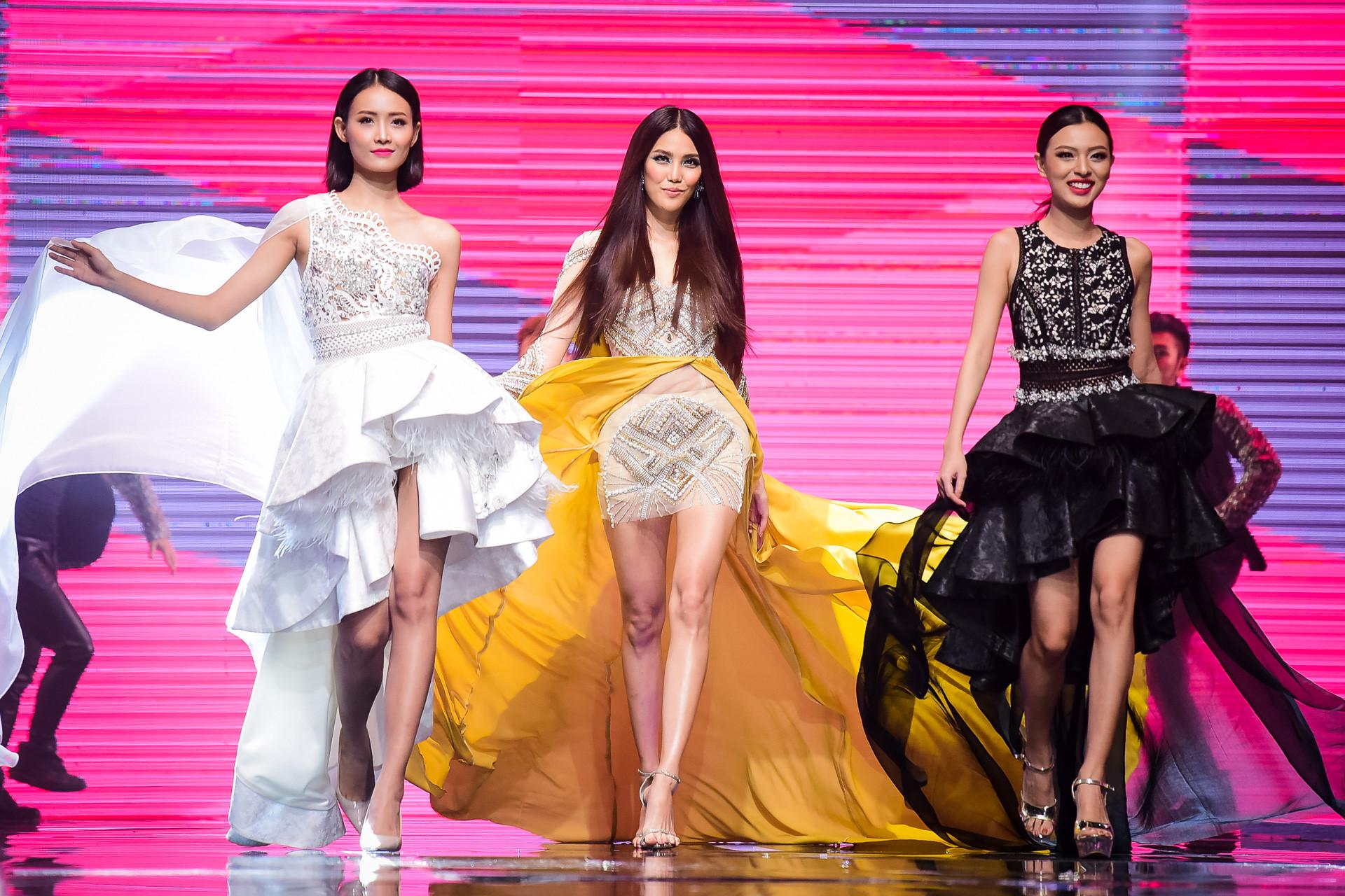 Dàn thí sinh The Face vào nhóm sao xấu vì váy áo rườm rà