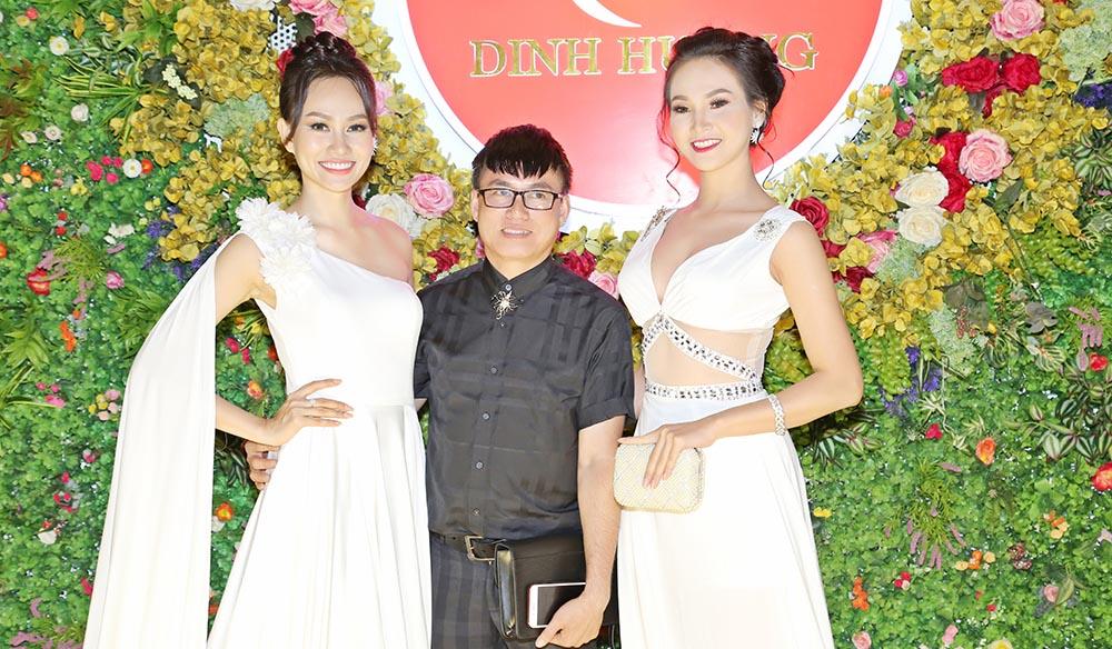 """Người đẹp kiêu sang với váy đầm dạ hội trắng """"bao vây"""" NTK Tommy Nguyễn"""