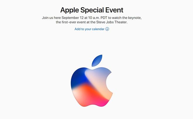 Apple gửi thư mời ra mắt iPhone 8 ngày 12/9