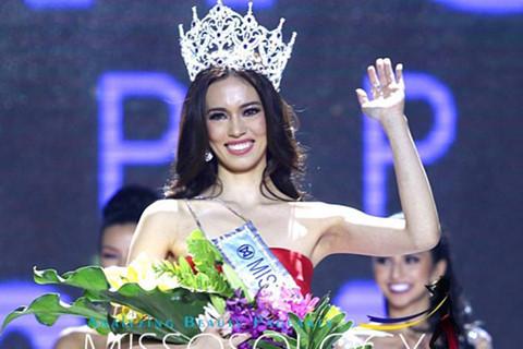 Tân Hoa hậu Thế giới Philippines kém sắc khi đăng quang