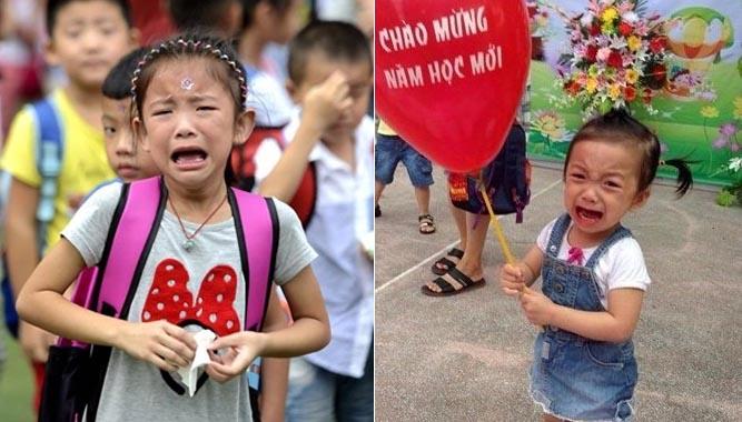 Ngày đầu tiên đến trường của các bé bi: Đủ cả từ khóc thét đến mếu máo đòi về