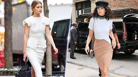 Phối hợp chân váy bút chì sành điệu như Kendall Jenner, Gigi Hadid