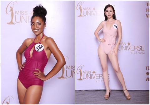 Thí sinh Hoa hậu Hoàn vũ Việt Nam lộ đùi to, chân ngắn khi diện bikini