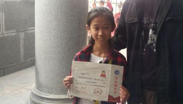 Nữ sinh 10 tuổi trở thành tân sinh viên tại Trung Quốc