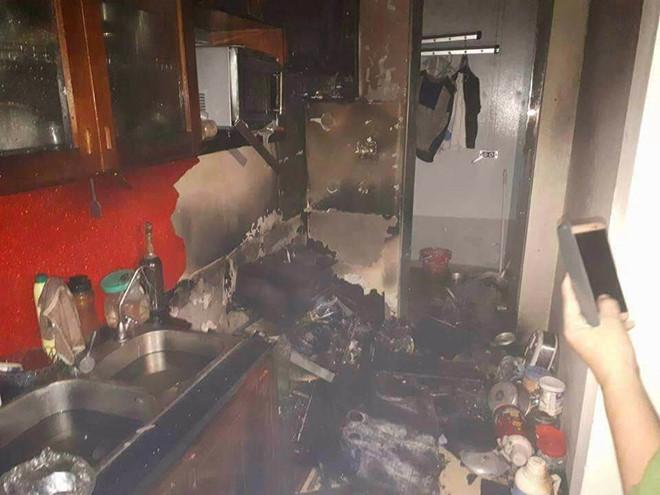 Cháy tại căn hộ ở chung cư 27 tầng Rainbow Hà Đông