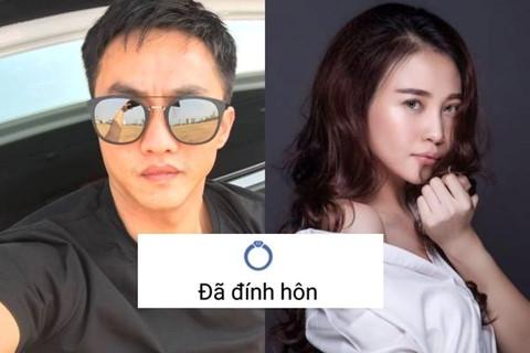 """Cường Đô La và Đàm Thu Trang đồng loạt chia sẻ """"đã đính hôn"""""""
