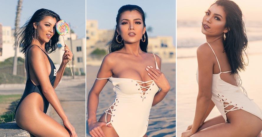 Người đẹp Selina Trương khoe nước da nâu nóng bỏng