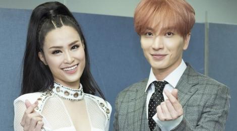 Đông Nhi trò chuyện với trưởng nhóm Super Junior, SNSD ở hậu trường