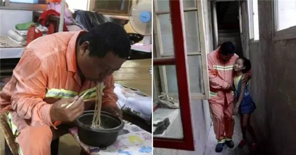 Người cha nghèo suốt 7 năm nhặt rác, ăn mỳ để con gái thực hiện ước mơ