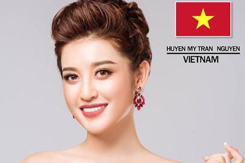 Huyền My có mặt trong top 10 thí sinh Hoa hậu được yêu thích nhất