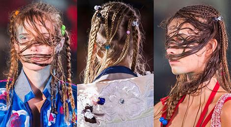 Những kiểu tóc quái dị tại tuần lễ thời trang thế giới