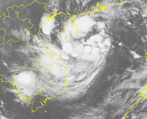 Chiều tối nay áp thấp nhiệt đới đi vào đất liền, mưa lớn diện rộng