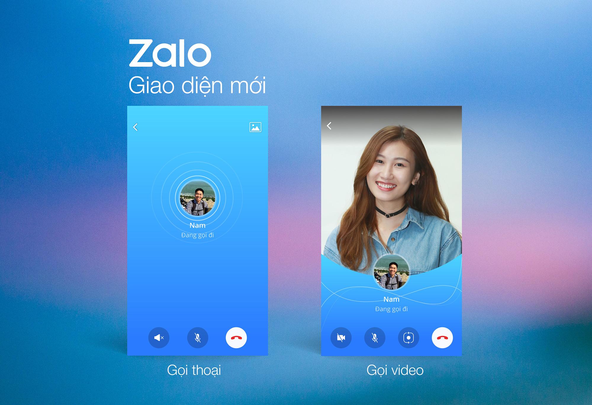Zalo đổi diện mạo mới cho cuộc gọi thoại và video