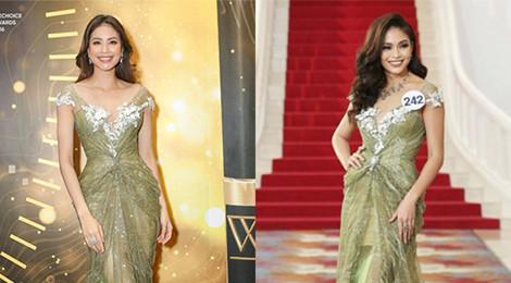 Huyền My và thí sinh Hoa hậu đụng trang phục với loạt mỹ nhân Việt