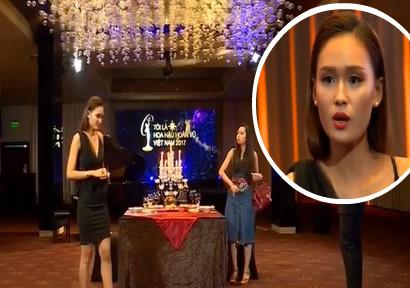 """Thí sinh Hoa hậu Hoàn vũ bị """"đánh ghen"""" trong phần thi bàn tiệc"""