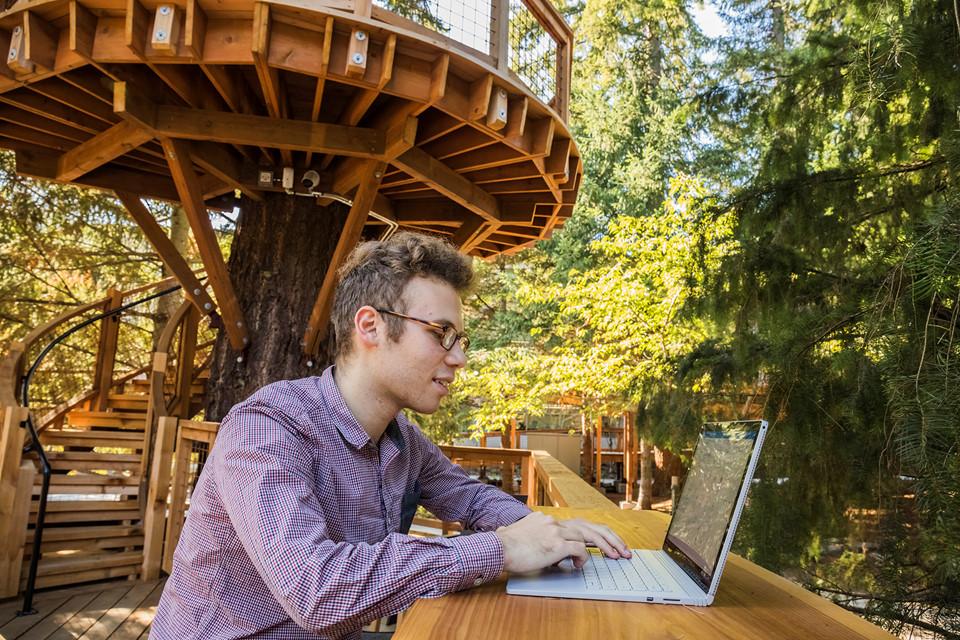 Văn phòng trên cây của nhân viên Microsoft có thể khiến bạn ganh tỵ