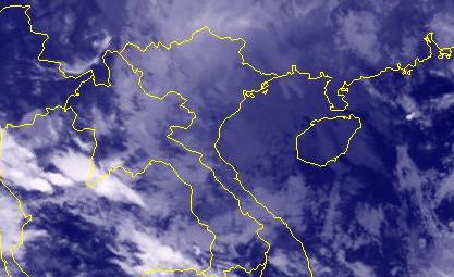 Áp thấp nhiệt đới tan trên vịnh Bắc Bộ