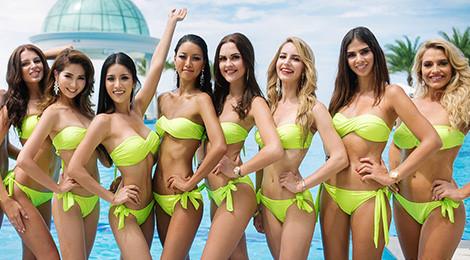 Dàn thí sinh Hoa hậu Hòa bình khoe dáng trong phần thi áo tắm