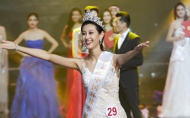 Chân dài tuổi U30 thành Hoa hậu Hoàn vũ Trung Quốc nhờ ứng xử lạ