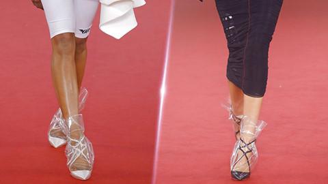Giày cao gót phủ nhựa plastic gây sốt làng thời trang thế giới