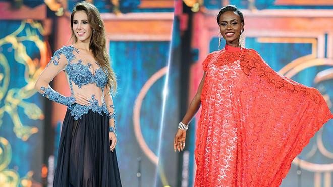 Những mẫu đầm dạ hội kém xinh tại bán kết Hoa hậu Hòa bình 2017