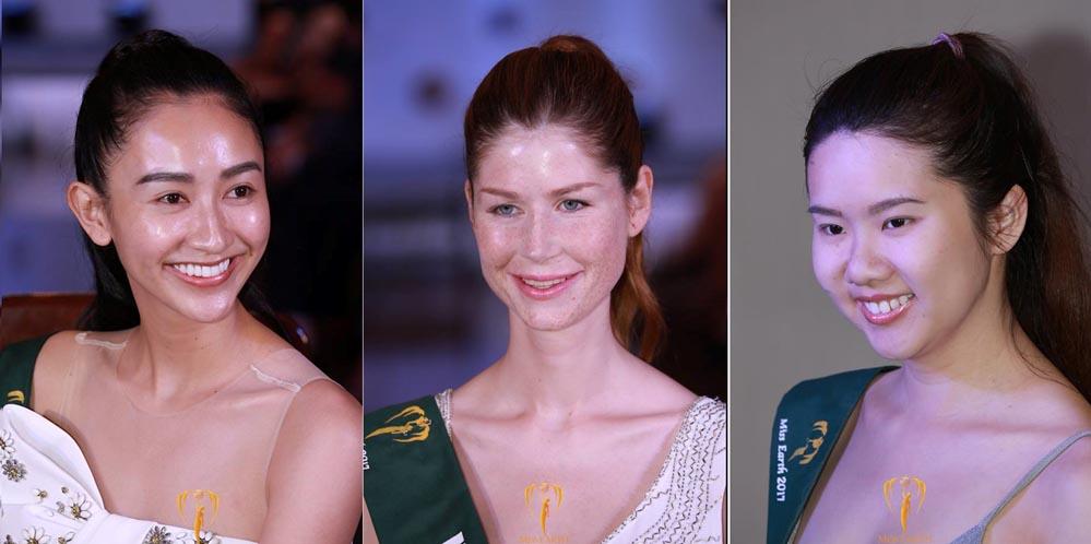 Mặt mộc gây thất vọng của Hà Thu và thí sinh Hoa hậu Trái đất 2017