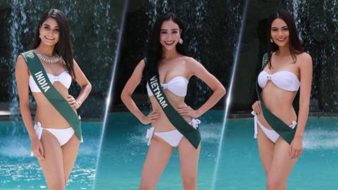 Hà Thu khoe dáng trong trang phục bikini tại Hoa hậu Trái đất