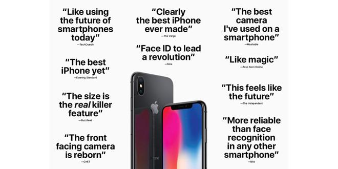 Apple truyền thông rầm rộ về iPhone X