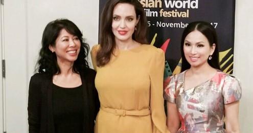 Em gái Cẩm Ly gặp riêng Angelina Jolie ở Liên hoan phim tại Mỹ
