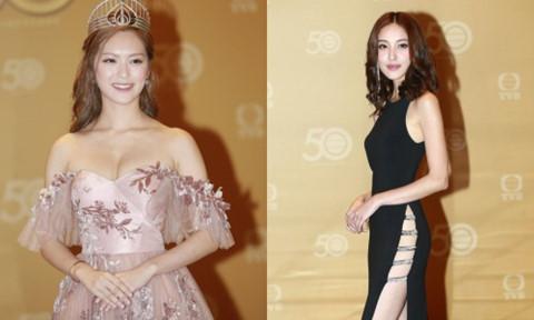 Hoa hậu Hong Kong gây tranh cãi vì váy gợi cảm tại sự kiện TVB