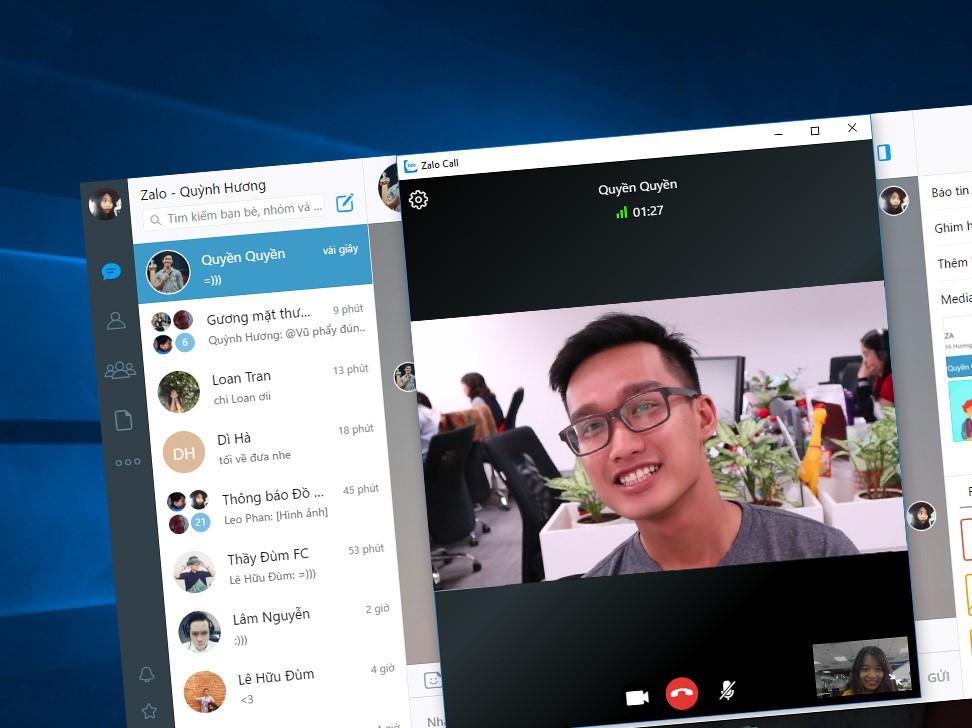 Zalo trên PC thêm tính năng gọi video, treo thông báo