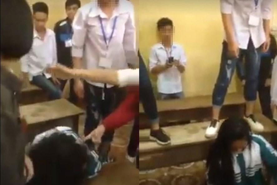 Nhóm nữ sinh túm tóc, đạp vào mặt bạn cùng lớp