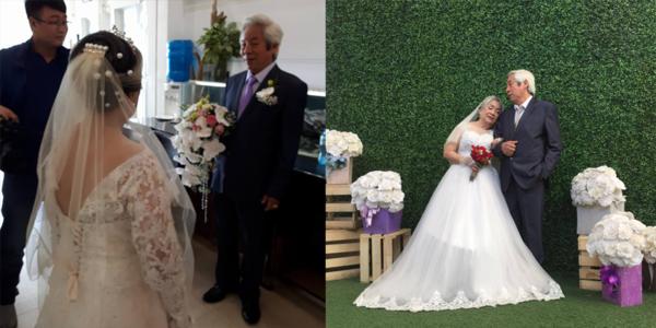 """Cảm động với """"đám cưới kim cương"""" của cặp đôi U90 ở Hải Phòng"""