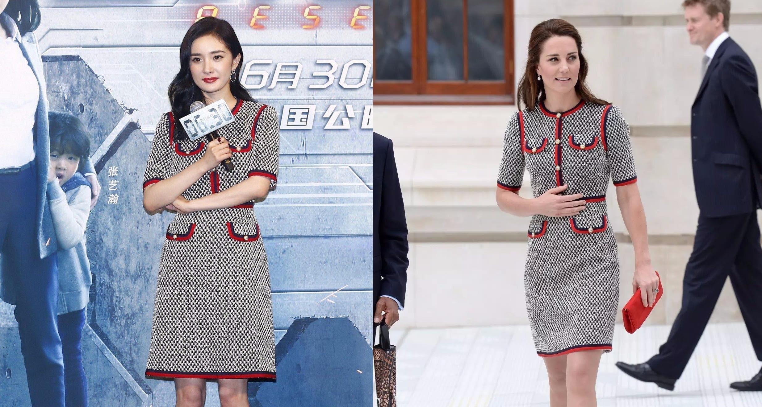 Dương Mịch đụng hàng công nương Anh: Ai mặc đẹp hơn?