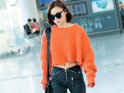 Cách kết hợp áo len và quần jeans sành điệu như sao Hoa ngữ