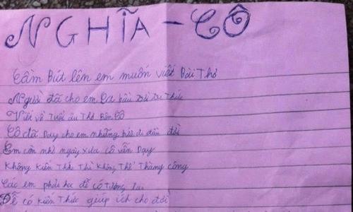 """Lá thư cậu học trò """"ba năm học lớp 1"""" ở Sài Gòn gửi cô giáo cũ"""