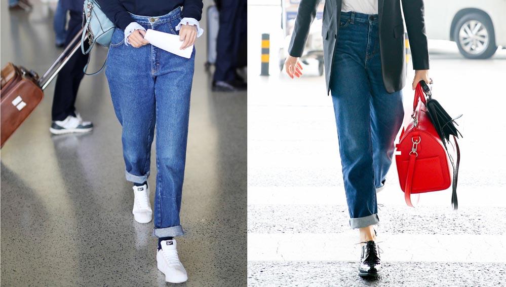 Mix quần jeans ống rộng ngày lạnh như thế nào?