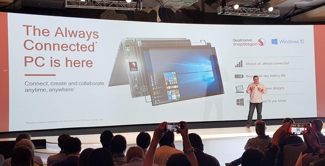 """Qualcomm công bố phiên bản Windows 10 mobile PC """"luôn kết nối"""""""