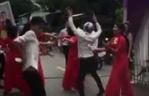 Dàn bê tráp mở nhạc sàn nhảy loạn đường ở An Giang