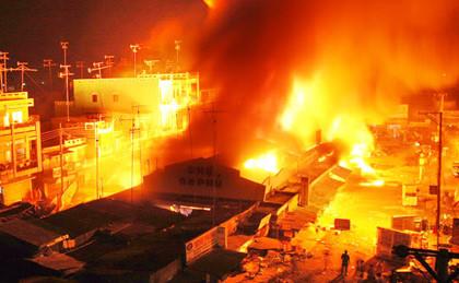 11 kiốt trong chợ cháy rụi trong đêm