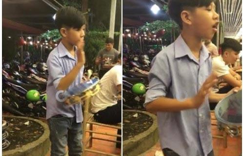 Cậu bé lắc trống quá điệu nghệ khiến Đàm Vĩnh Hưng muốn xem tận mắt