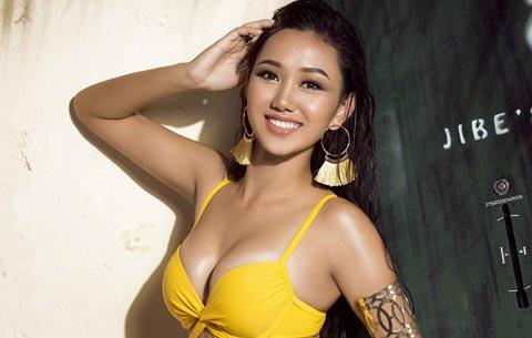 Người đẹp Hoa hậu Hoàn vũ Việt Nam khoe hình thể gợi cảm với bikini