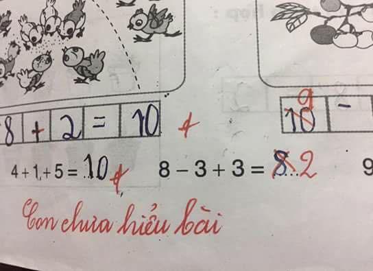 Bài toán 8 - 3 + 3 gây tranh cãi trên mạng